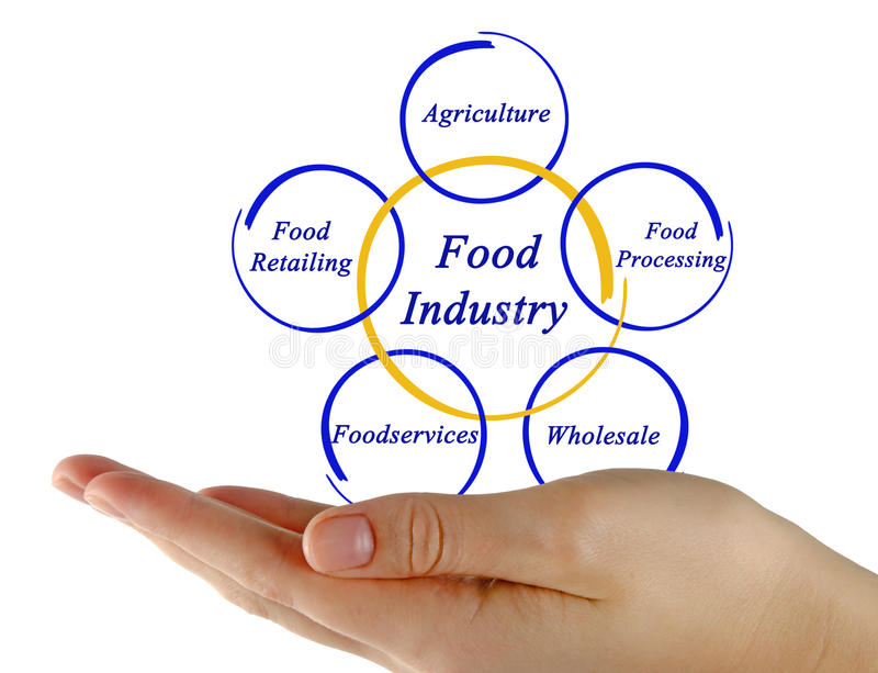 Diagram van Voedselindustrie royalty-vrije stock afbeelding