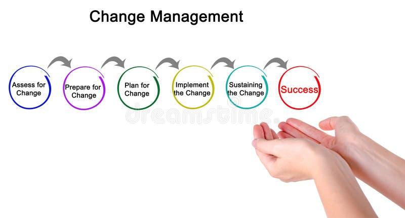 Diagram zmiany zarządzanie obraz stock