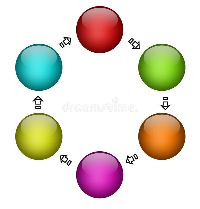 Diagrama ilustración del vector