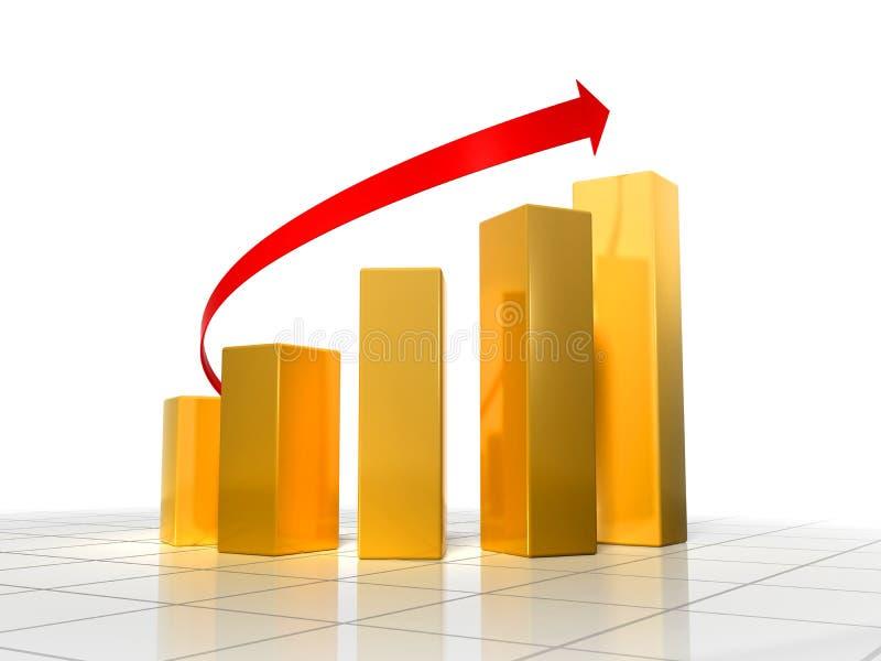 diagrama 3d ilustração stock