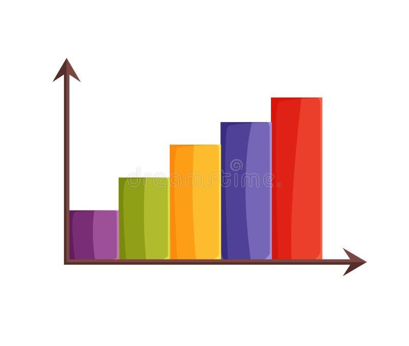 Diagrama colorido con el ejemplo del vector de las flechas stock de ilustración