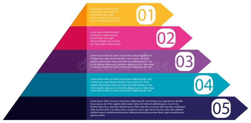 Diagrama colorido del infographics de la pirámide stock de ilustración