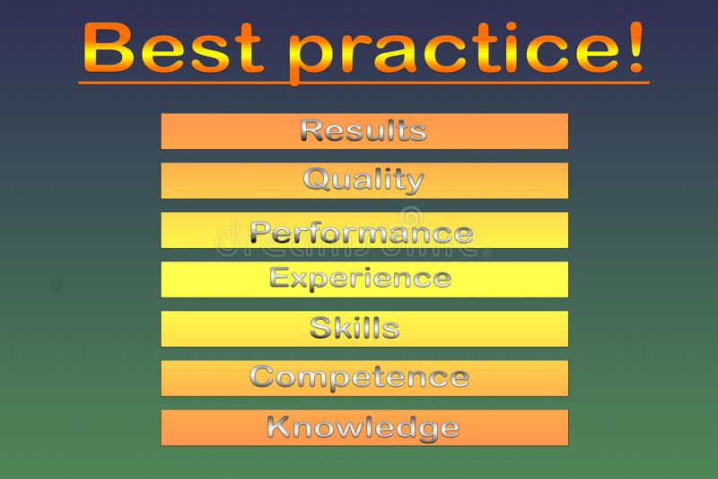Diagrama da aproximação da melhor prática - ilustração ilustração stock
