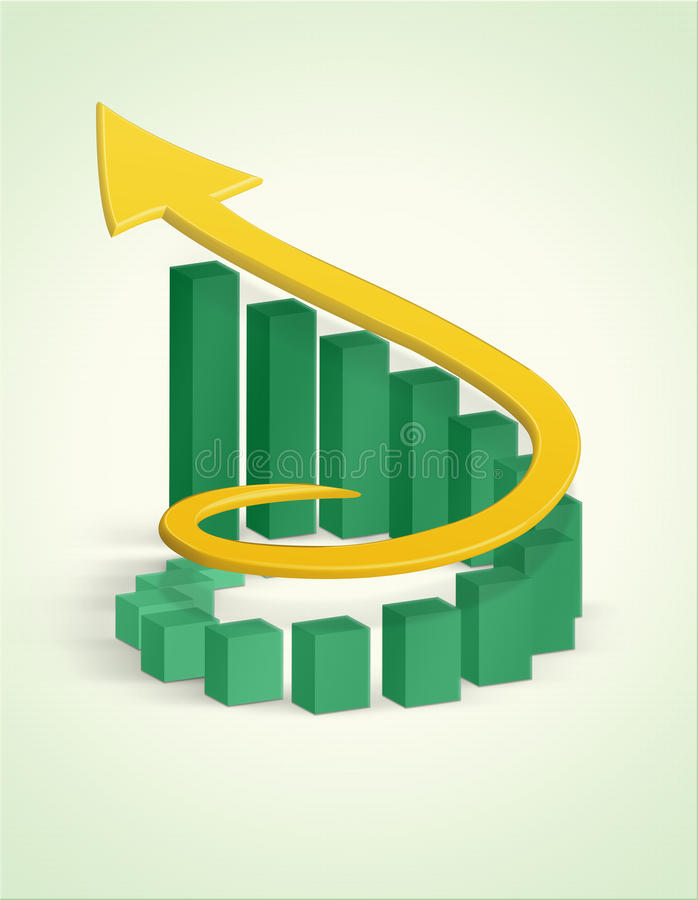Diagrama da barra do crescimento ilustração royalty free