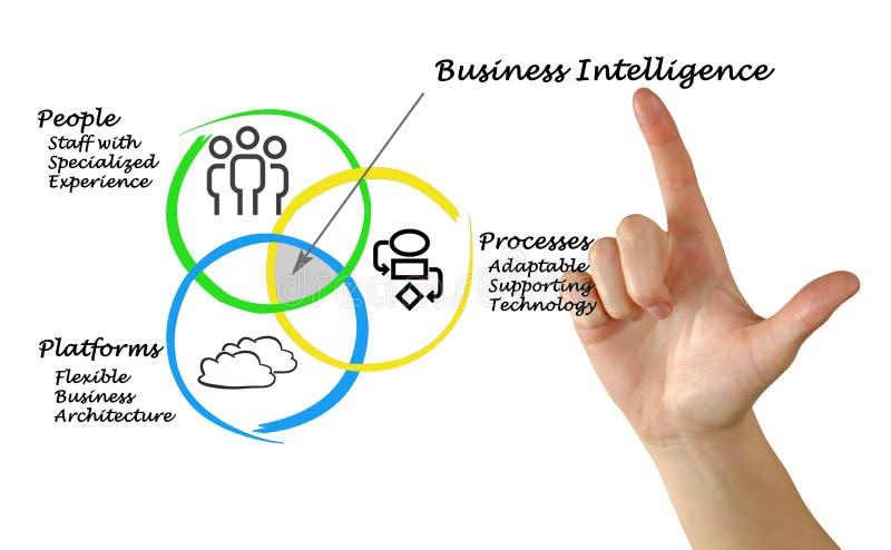 Diagrama da inteligência empresarial imagem de stock