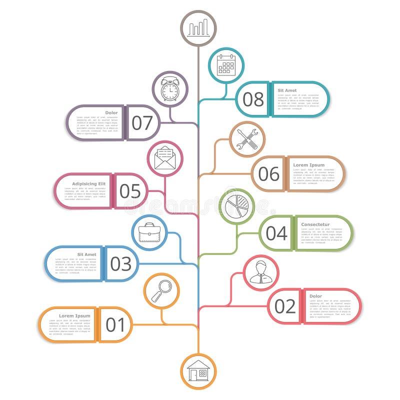 Diagrama de árbol ilustración del vector