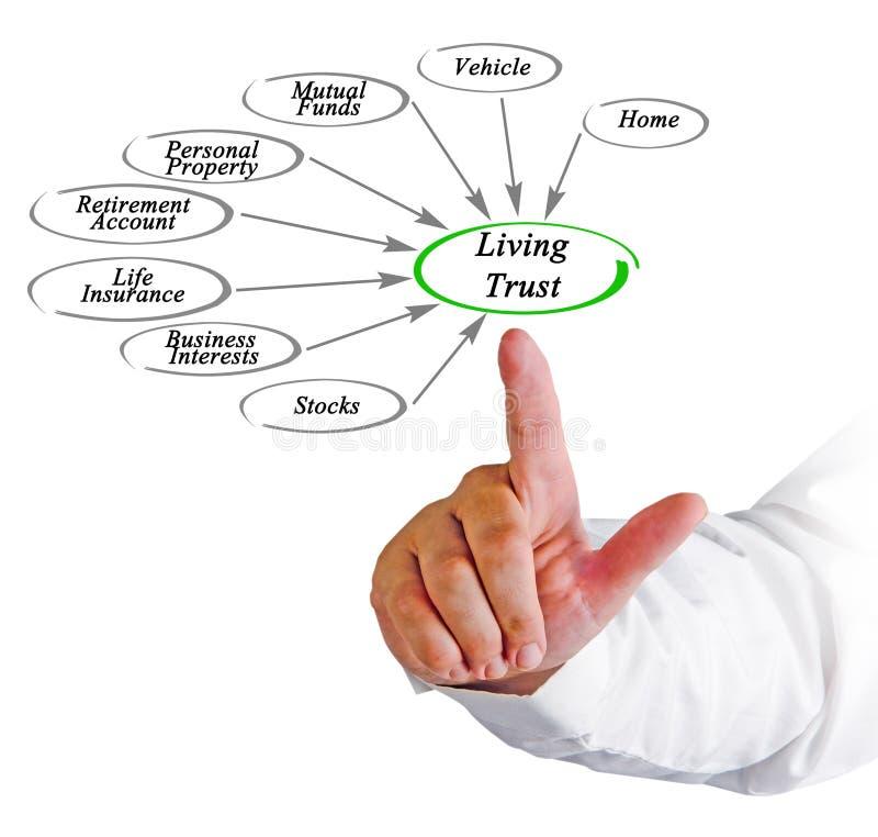 Diagrama de confiança viva imagens de stock