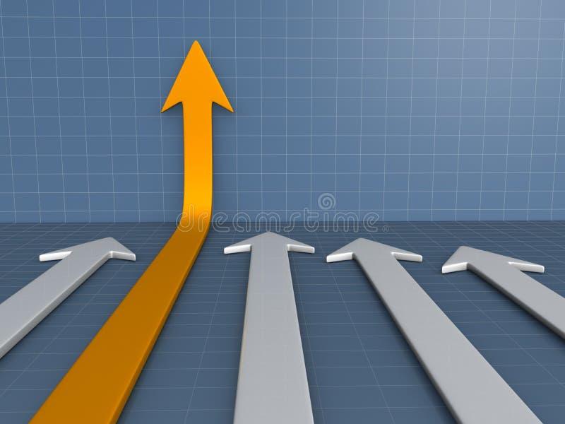 Diagrama de flechas stock de ilustración