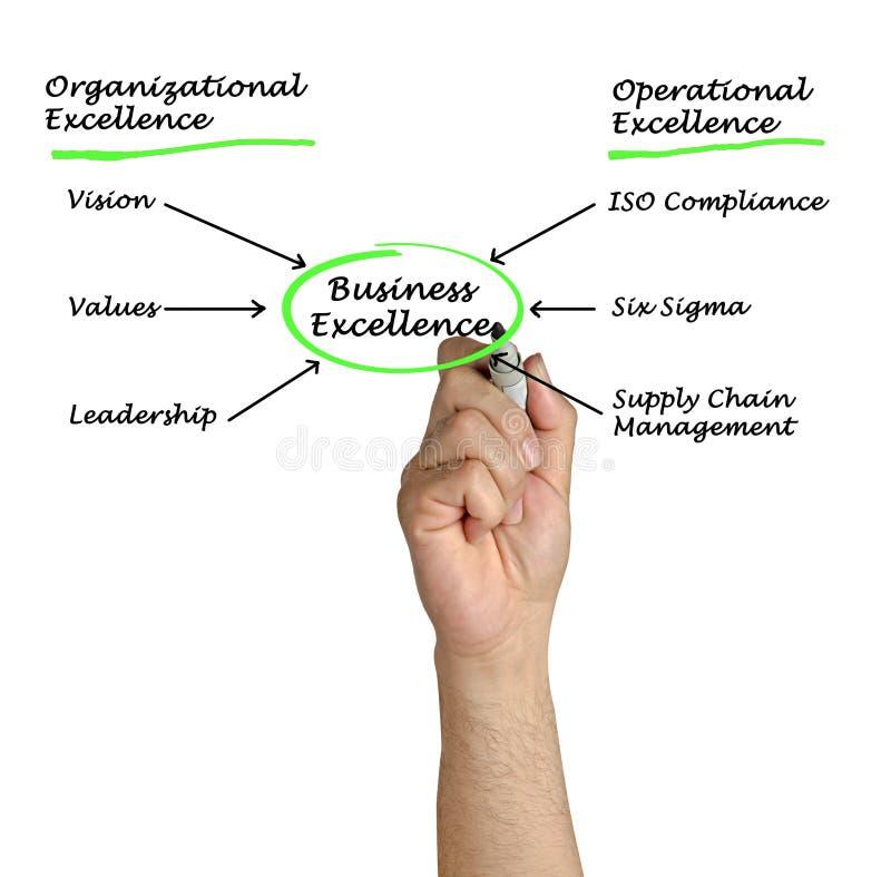 Diagrama de la excelencia del negocio imágenes de archivo libres de regalías
