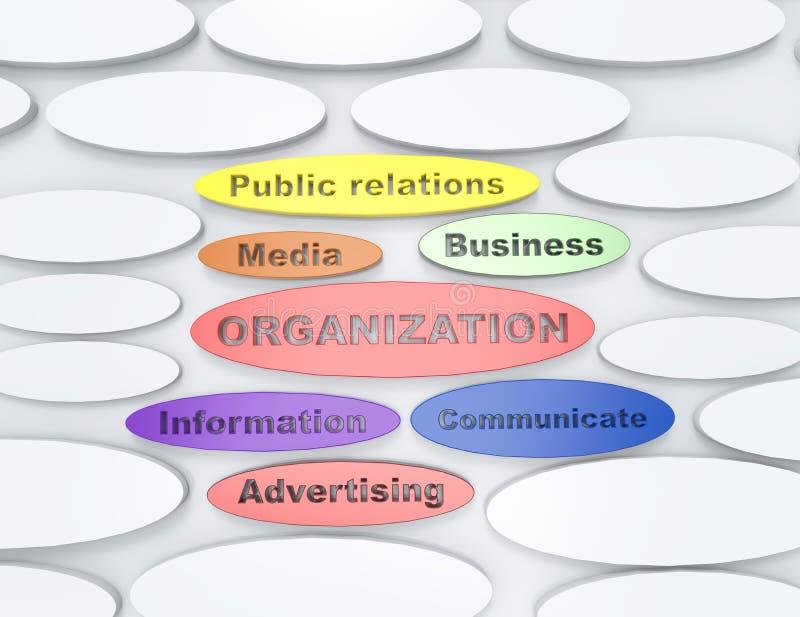 Diagrama de la organización ilustración del vector