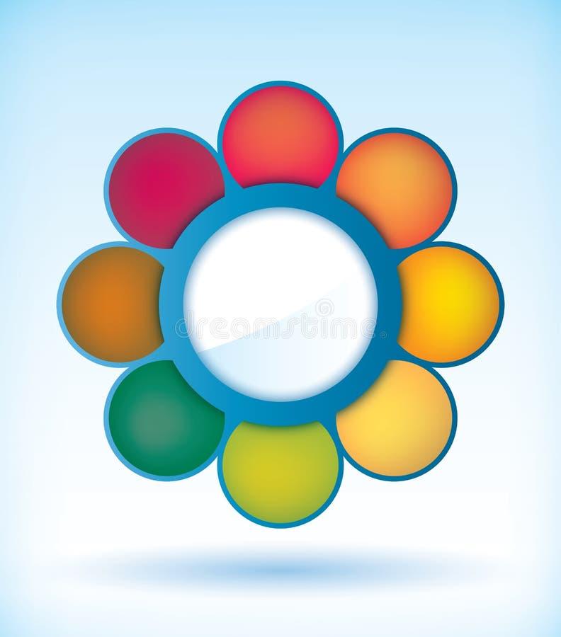 Diagrama de la presentación de la flor stock de ilustración