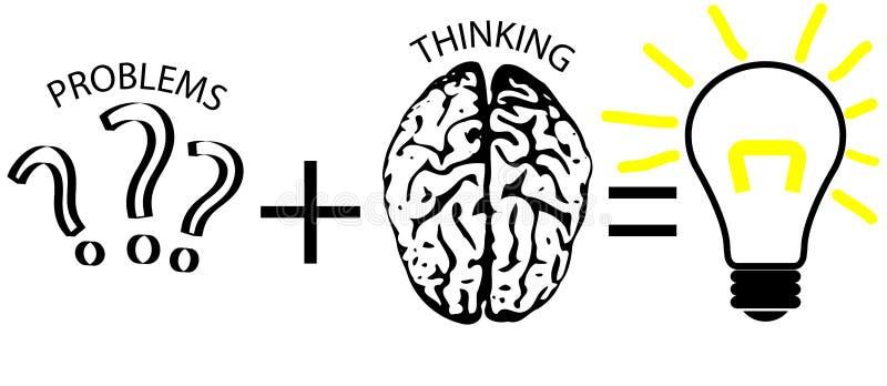 Diagrama de la solución de problemas stock de ilustración