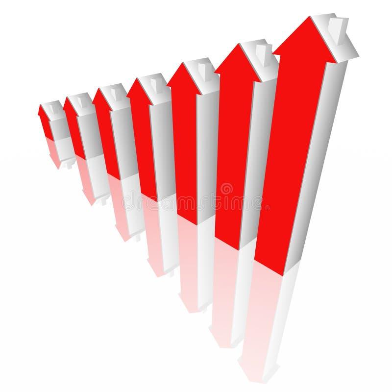 Diagrama de los bienes raices stock de ilustración