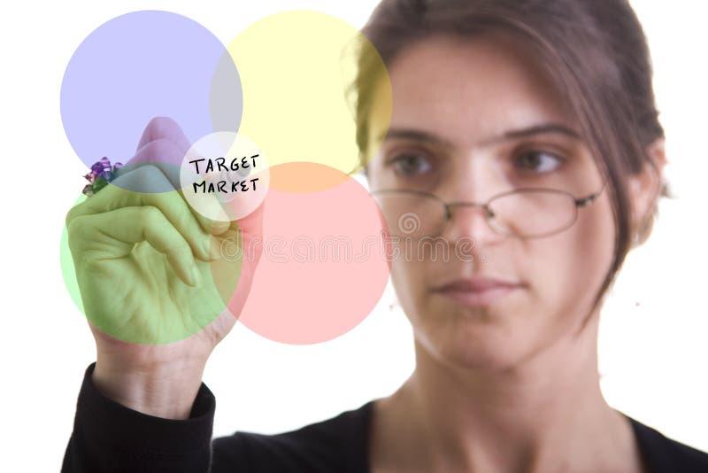 Diagrama de Markting foto de archivo