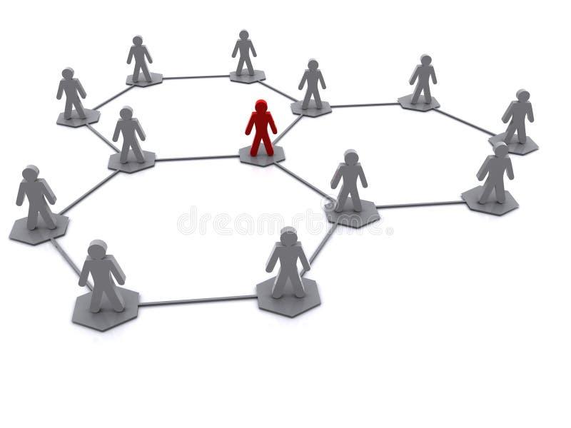 Diagrama de red de la organización stock de ilustración