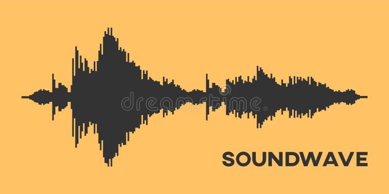 Diagrama de Soundwave stock de ilustración