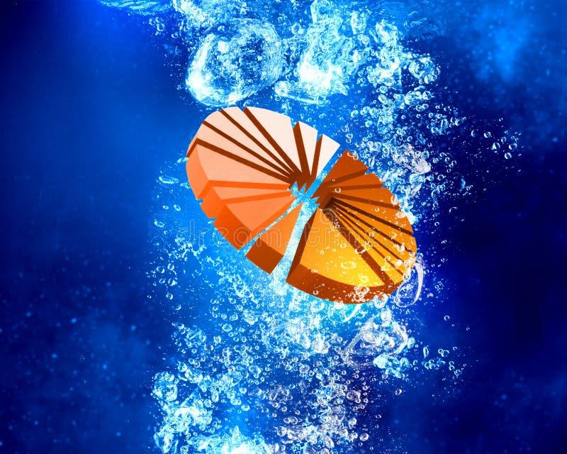 Diagrama debajo del agua imagen de archivo