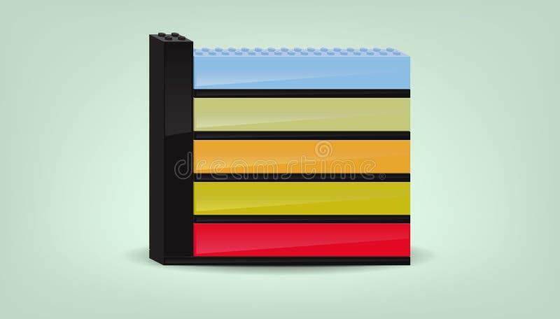 Diagrama del color del asunto stock de ilustración