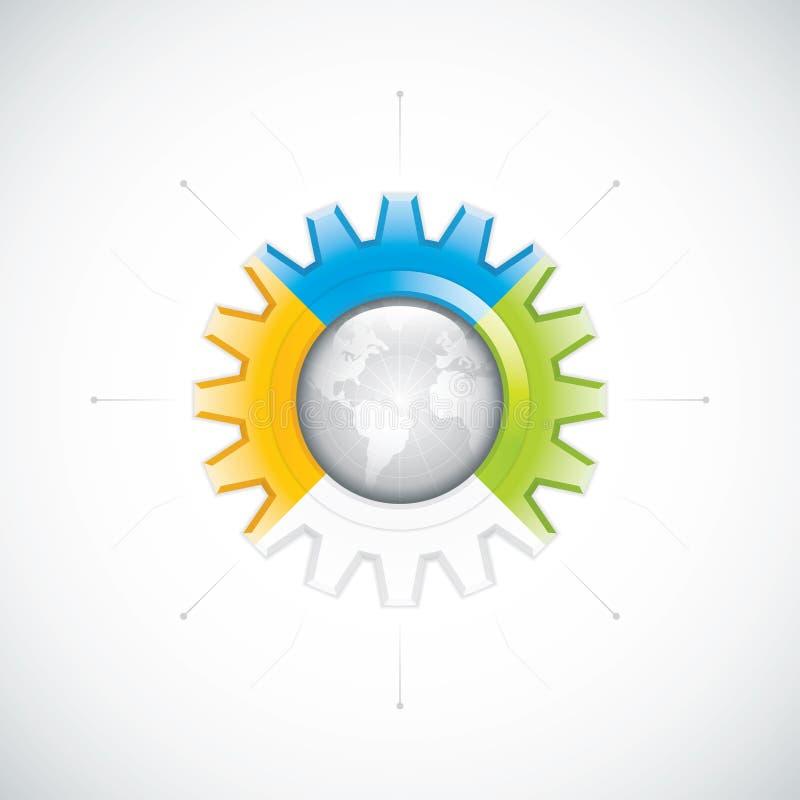 Diagrama del engranaje del negocio stock de ilustración