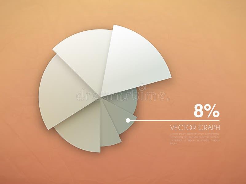 Diagrama del gráfico. gráfico de sectores del vector libre illustration