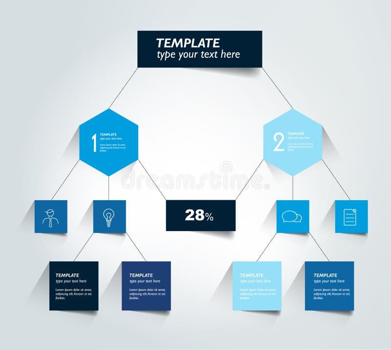 Diagrama del organigrama, esquema Elemento de Infographic libre illustration