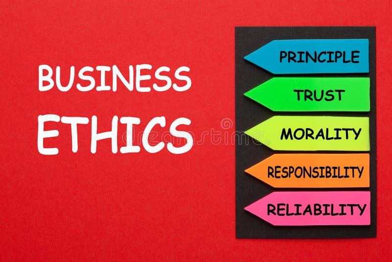 Diagrama do ética comercial fotografia de stock royalty free