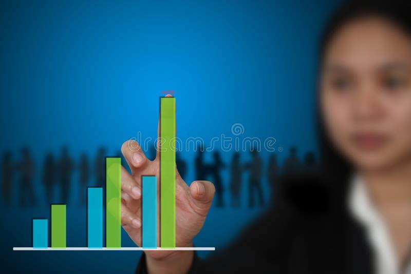 Diagrama do gráfico de barra do negócio imagem de stock