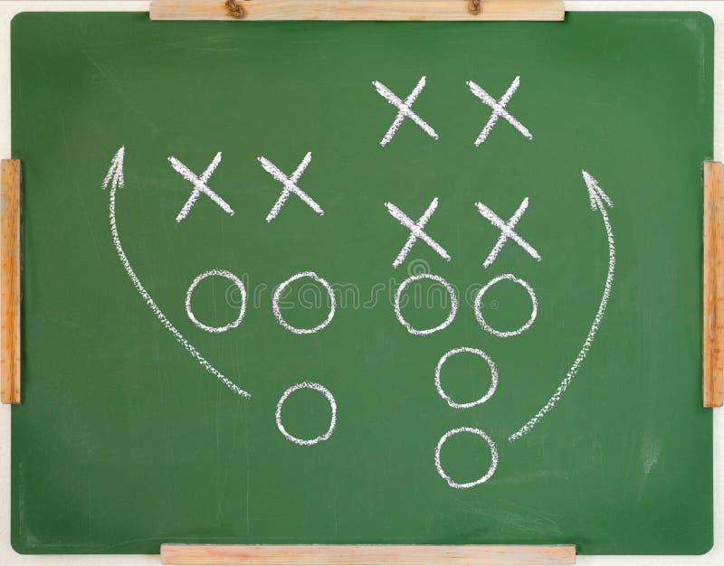 Diagrama do jogo de futebol imagens de stock