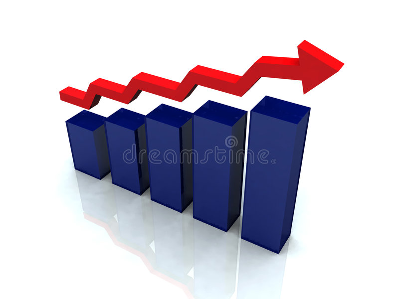 Diagrama do negócio imagens de stock royalty free