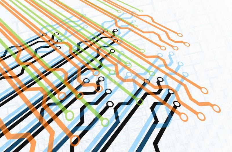 Diagrama do trajeto ilustração do vetor