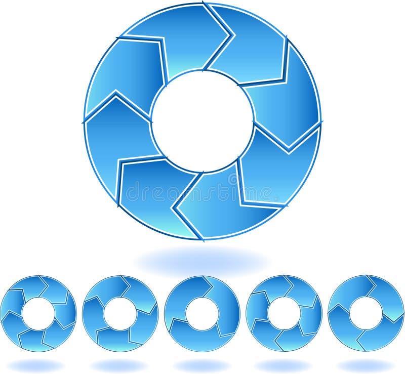 Diagrama dos azuis de Chevron ilustração royalty free