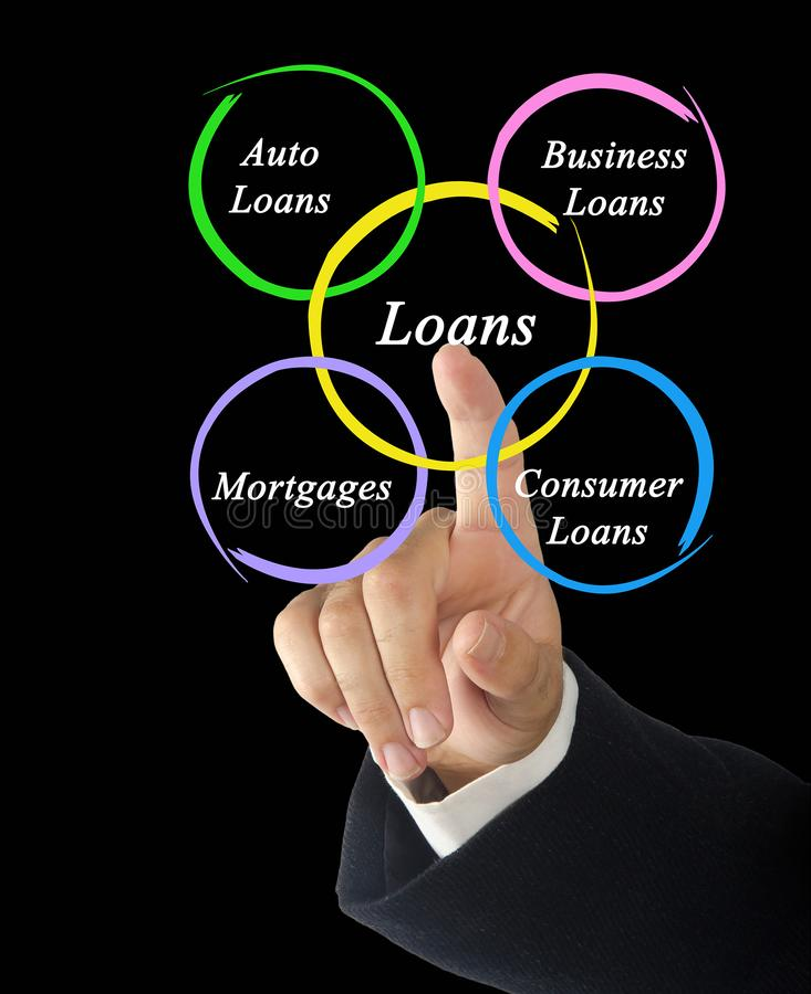Diagrama dos empréstimos imagem de stock royalty free