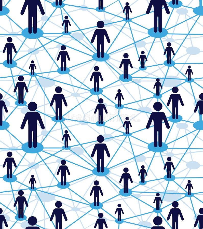 Diagrama dos povos da equipe do negócio ilustração stock