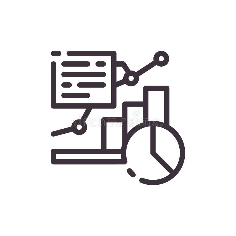 Diagrama e icono de la carta de crecimiento libre illustration