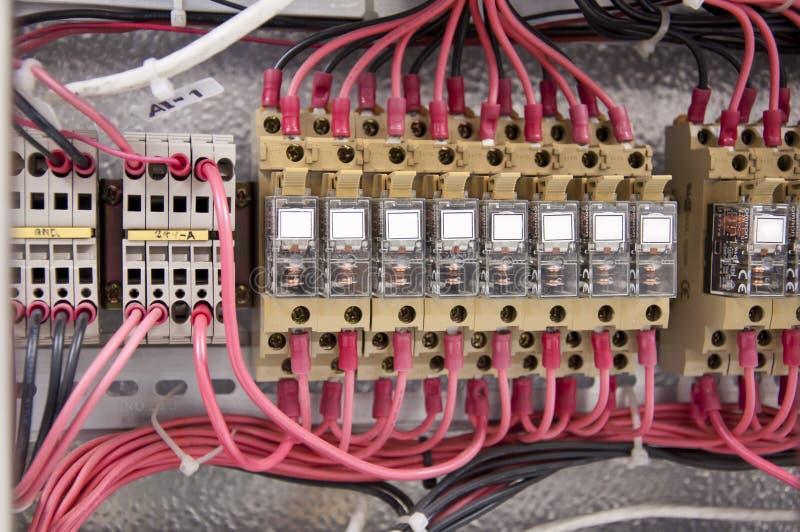 Diagrama elétrico do painel de controle da fiação imagem de stock royalty free