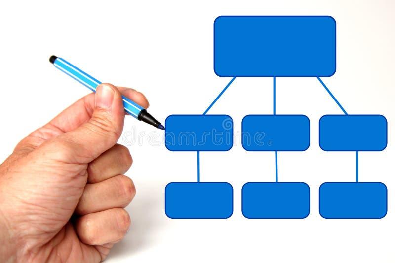 Diagrama en blanco ilustración del vector