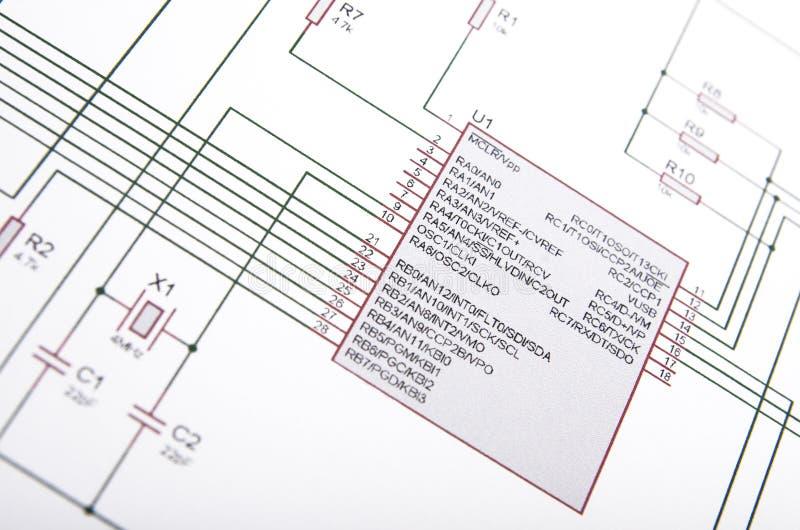 Diagrama esquemático imagem de stock