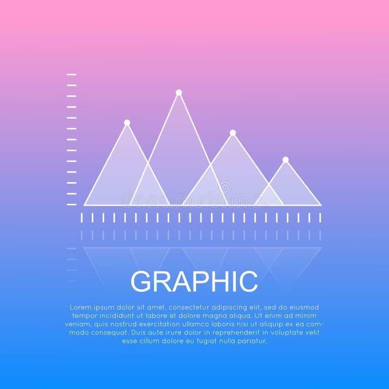 Diagrama gráfico com relatório triangular das marcas ilustração royalty free