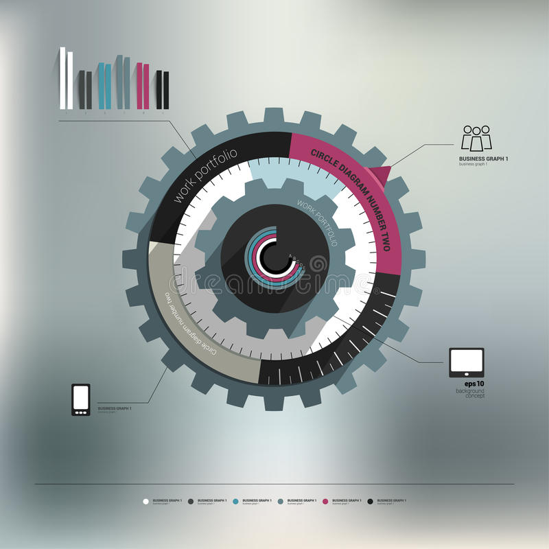 Diagrama gráfico do círculo da informação ilustração royalty free