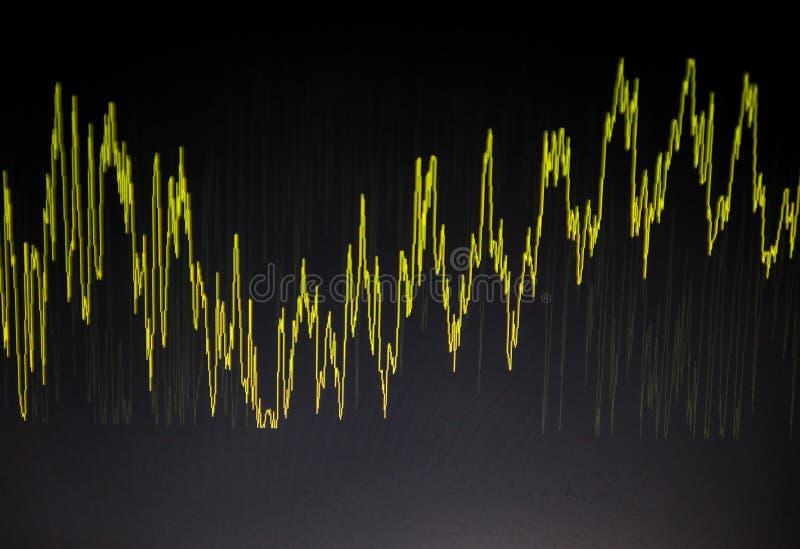 Diagrama Gr?fico abstracto waveform imagen de archivo