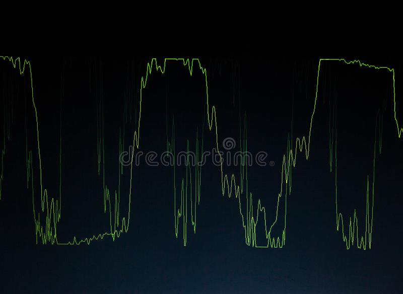Diagrama Gr?fico abstrato waveform fotos de stock royalty free