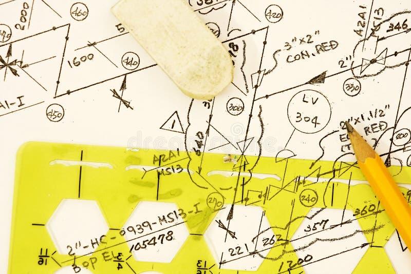 Diagrama isométrico imagenes de archivo