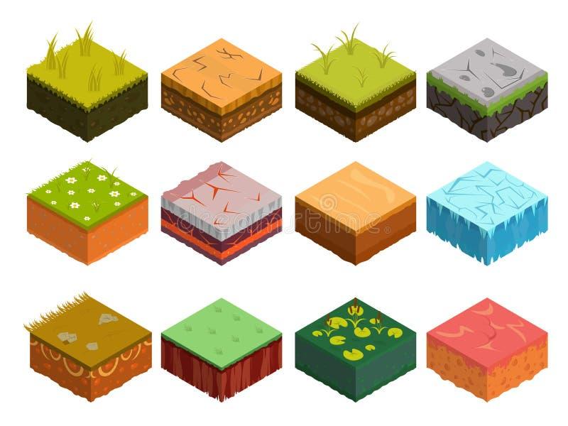 Diagrama isométrico de las capas del suelo imagen de archivo libre de regalías