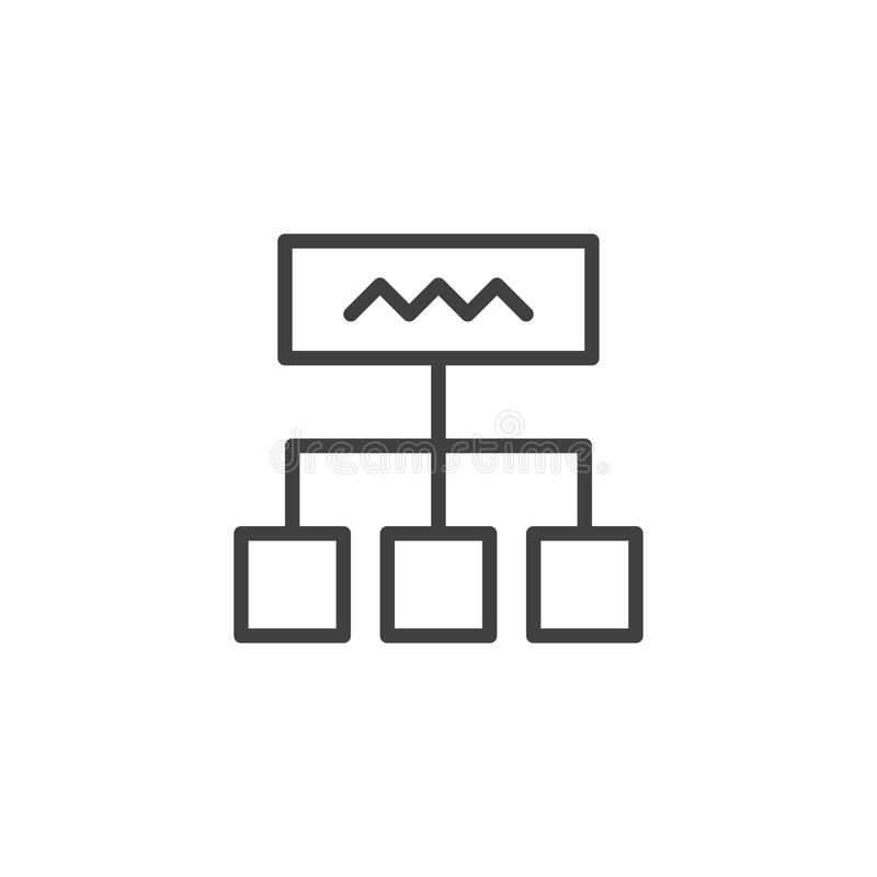 Diagrama konturu ikona ilustracji