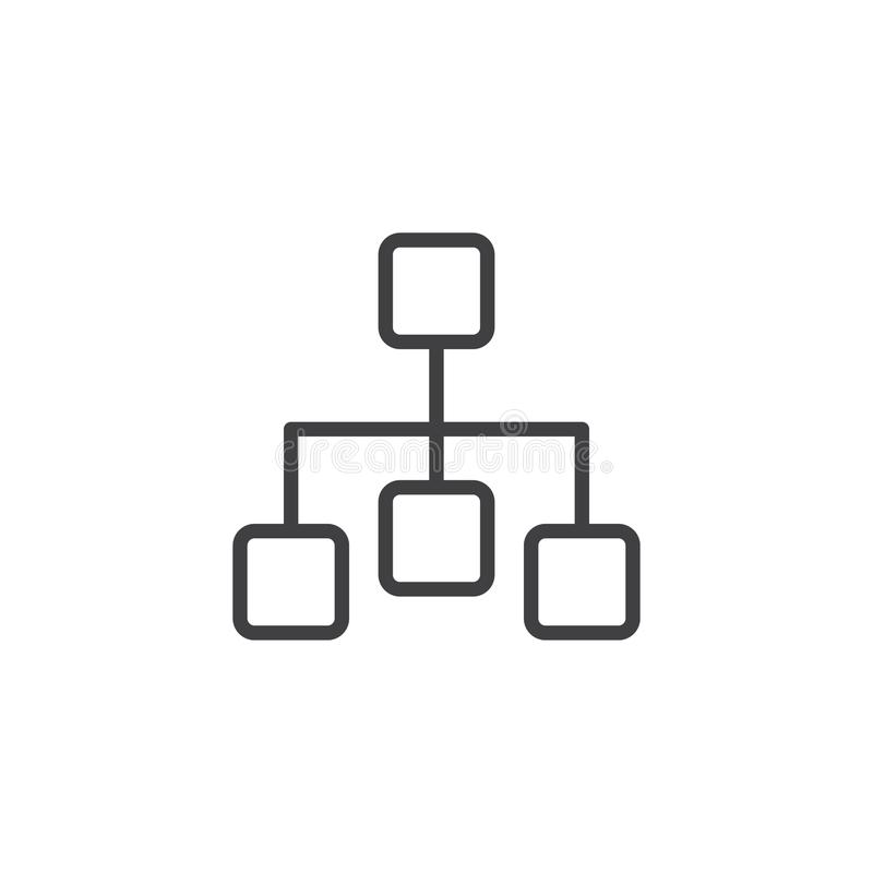 Diagrama konturu ikona ilustracja wektor