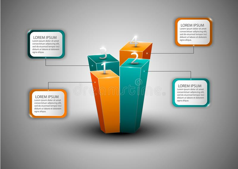 Diagrama moderno do infographics para o design web ilustração do vetor
