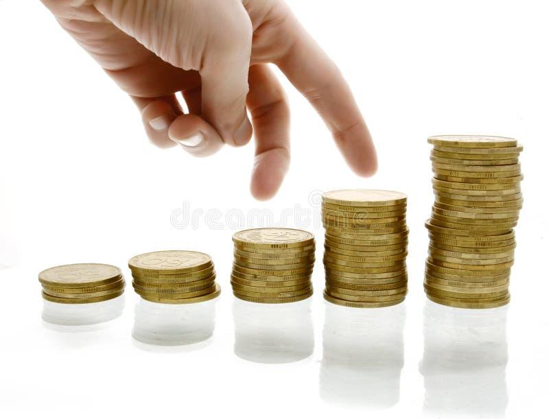 diagrama pieniądze fotografia royalty free