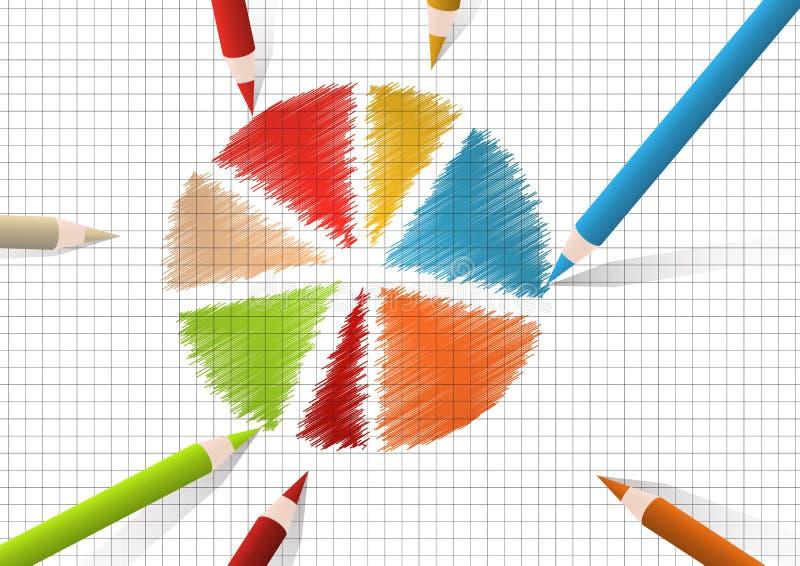 Diagrama redondo stock de ilustración