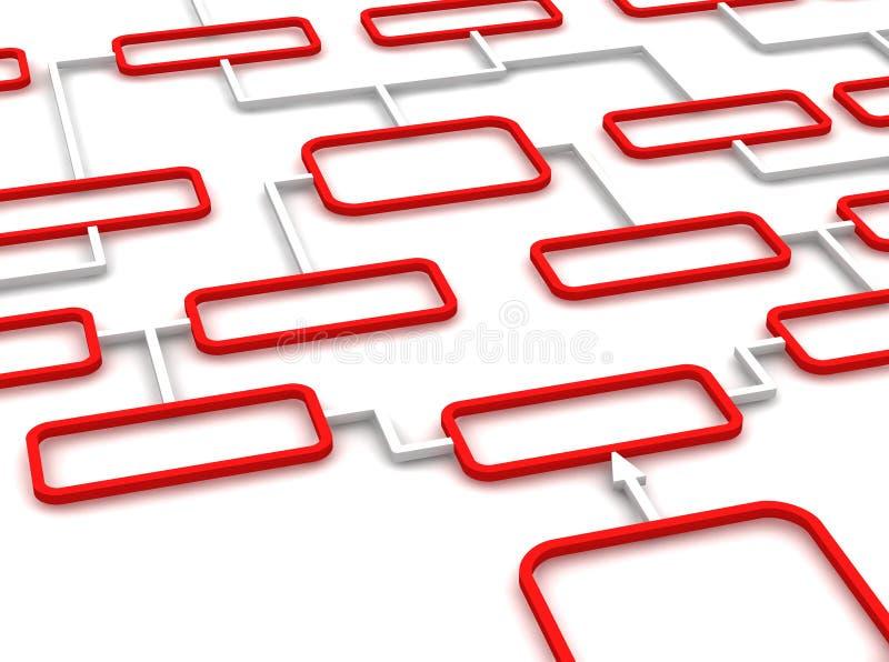 Diagrama rojo y blanco libre illustration