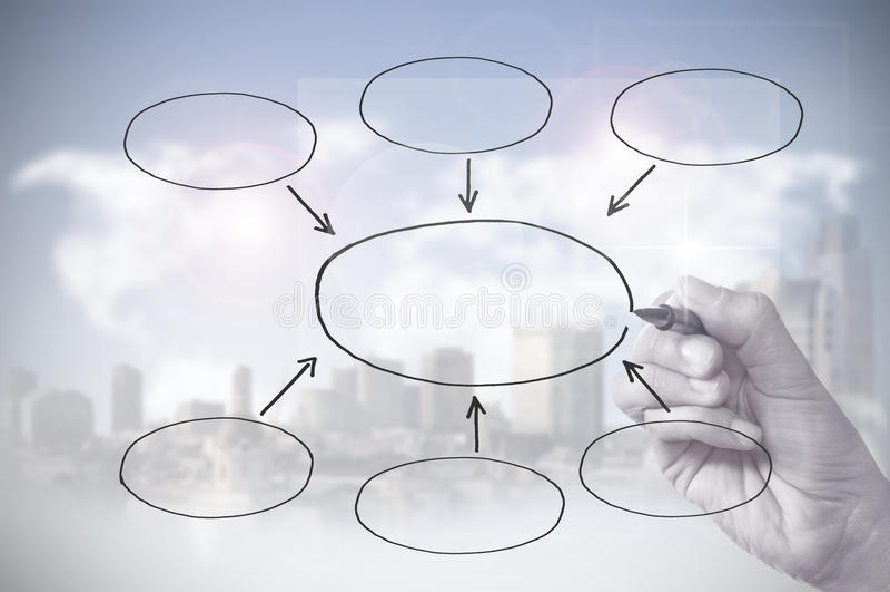 diagrama rysunku pusta ręka zdjęcie royalty free